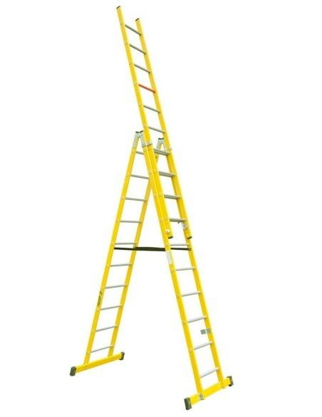 Escaleras Tijera con Tramo Extensible